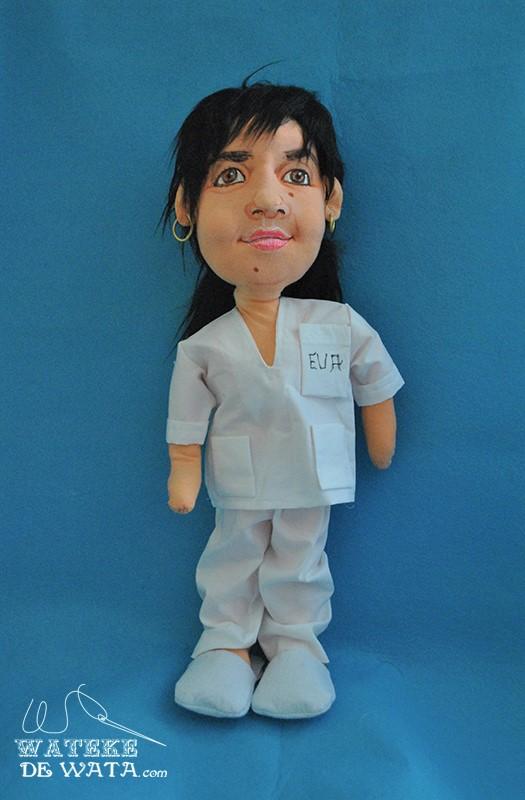 muñecas de trapo con tu cara, enfermeras
