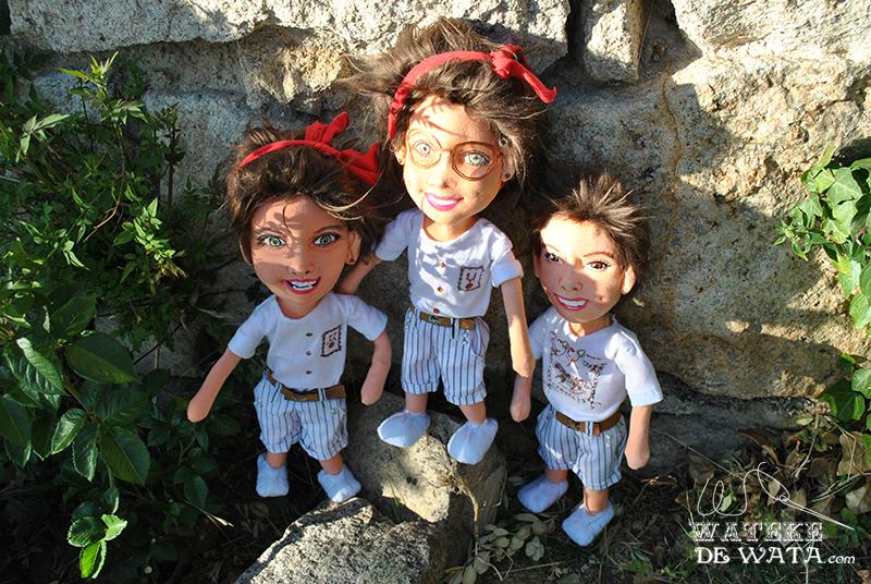 muñecos retrato personalizados hechos a mano