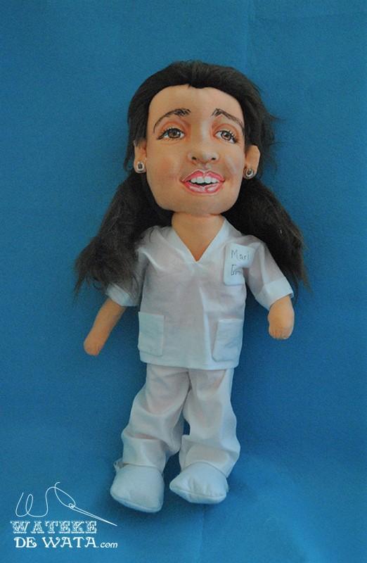 figuras mini yo enfermera de trapo