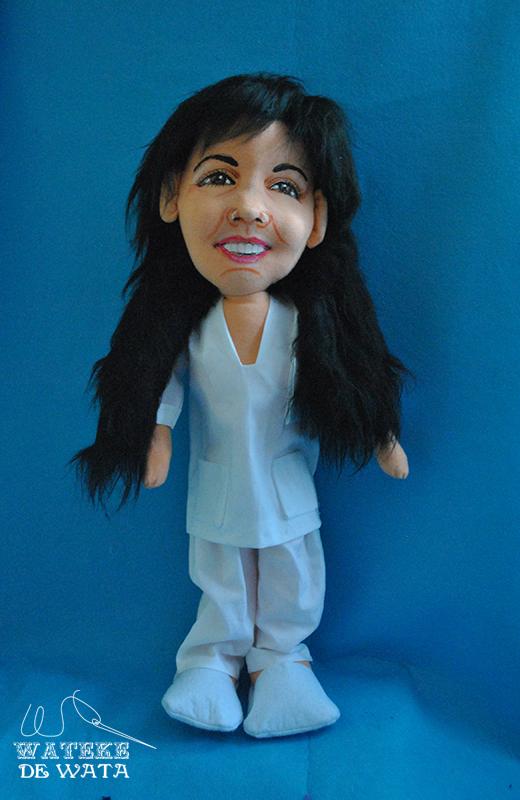 muñeca de enfermera, figuras de oficios hechas a mano