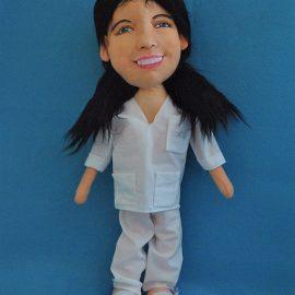 muñecas retrato de enfermeras con tu cara