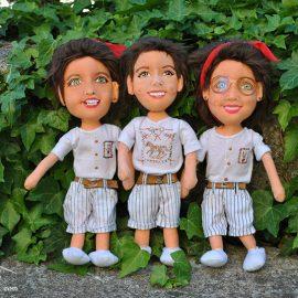 muñecos personalizados con tu cara, de trapo