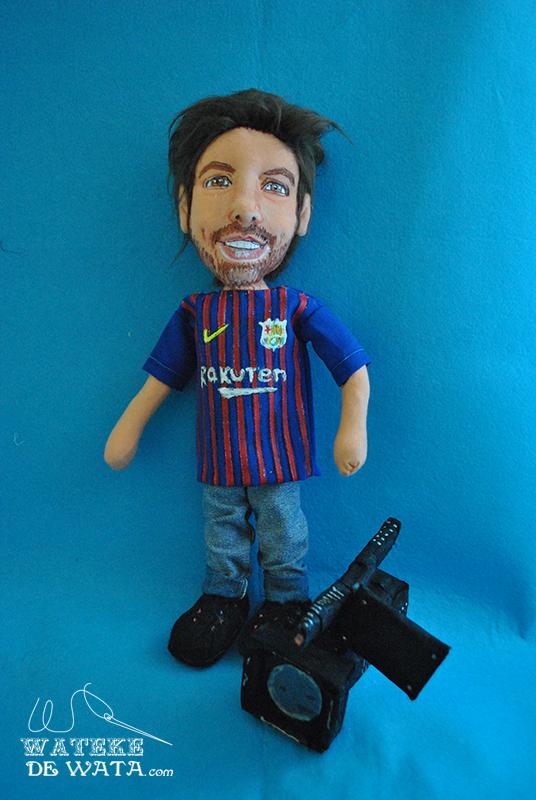 muñecos futbol personalizados hechos a mano, con tu cara