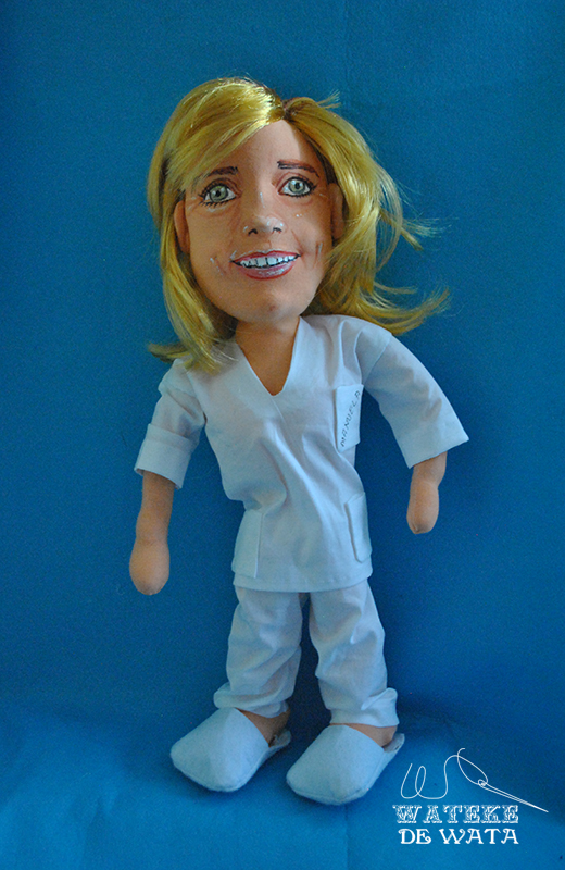 muñecas de enfermeras hechas a mano con tu cara, figuras de oficios