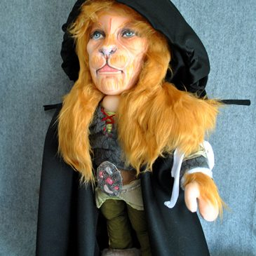 muñecos personalizados de trapo de La Bella y la Bestia hechos a mano