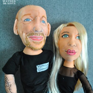 muñecos de trapo personalizados, figuras novios reales